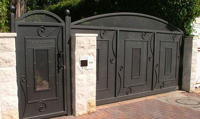 מעולה שערים לחצר מאלומיניום - צפו בקטלוג שערי כניסה חשמליים לבית - אמון JC-51